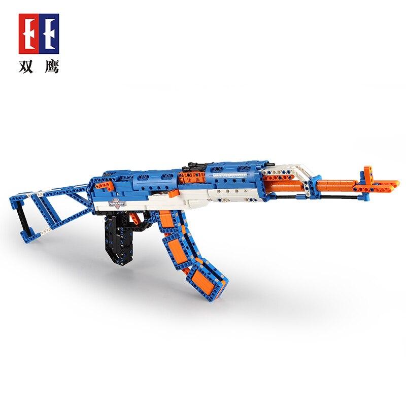 498 pièces bricolage AKa47 bloc pistolet armes modèle jouet pistolet Airsoft air guns assemblé briques blocs pour garçons Cool cadeau