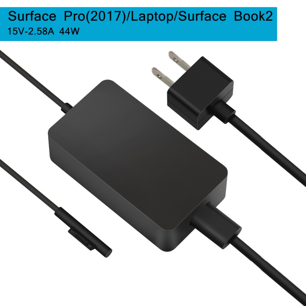 SuperNight DC 15V 4A 65W Power Supply Adapter Charger for Microsoft Surface Book Book 2 Laptop with USB Port for iPhone Samsung
