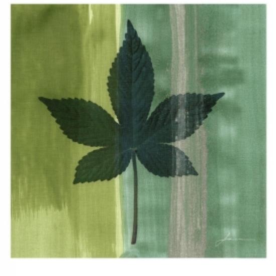 Silver Leaf Tile IV Poster Print by James Burghardt (13 x 19)