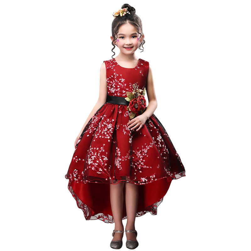 2018 Winter Toddler Bridesmaid Wedding Dress Princess Kids Dresses For Girls Dress Party Dress Children Clothing 4 6 10 12 Years 2018 winter toddler party floral princess dress girls clothes wedding kids dresses for girls bridesmaid tutu dress 4 10 12 years