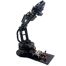 6DOF Robot Arm Clamp Claw Machinery Mechanical Robotics Structure Full Set Mechanical Arm for DIY Arduino