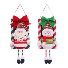 Santa Snowman Pendant Christmas Decorations Window Ornaments Outdoor Indoor Decorative Signs(China) Decoration Promotion-Shop for Promotional