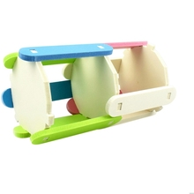 Hamster Toy Roller Rainbow Wood Exercise Sports Colorful Small Pet  Wooden