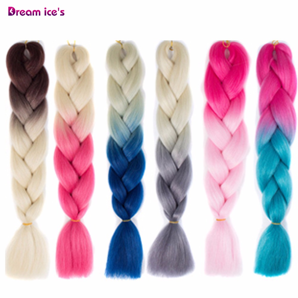 Miss Rola 100g Ultra Jumbo Braiding Crochet Hair Extensions 1pc 89 Ombre Colors Synthetic Crochet Braids Hair Color Hair Extensions & Wigs Hair Braids