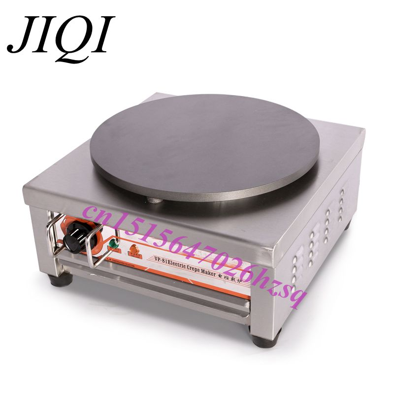 JIQI Stainless steel Electric Crepe Maker Plate Grill Crepe Grill machine jiqi stainless steel electric crepe maker plate grill crepe grill machine page 8