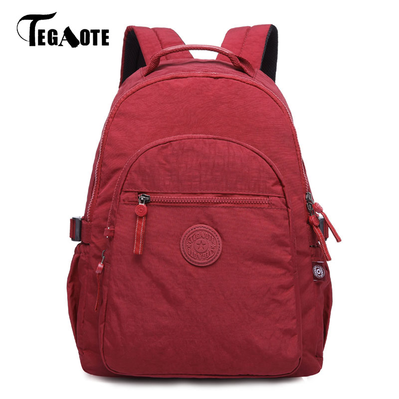 TEGAOTE Backpacks Women School Backpack for Teenage Girls Mochila Feminina Nylon Travel Laptop Bagpack Female Sac A Dos 2017 ethnic embroidered flower print backpacks women bags genuine leather backpack school bag sac a dos travel mochila feminina