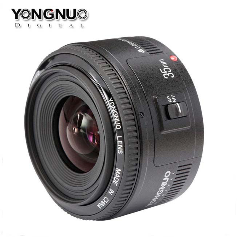 Yongnuo 35mm lens YN35mm F2 lens 1:2 AF / MF Wide-angle Large Aperture Fixed Auto Focus Lens For canon EF Mount EOS Cameras mf2300 f2