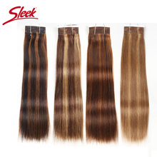 Sleek Pre Colored P4/27 P4/30 P1B/30 P6/2 Human Hair Bundles Brazilian Straight Hair 1 Bundle Remy Hair Extension 113g