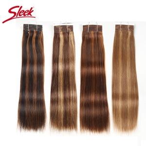Гладкие предварительно окрашенные человеческие волосы P4/27 P4/30 P1B/30 P6/2, бразильские прямые волосы, 1 пучок, наращивание волос Remy 113 г