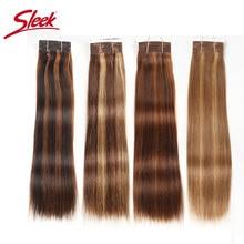Sleek Pre Farbige P4/27 P4/30 P1B/30 P6/2 Menschliches Haar Bundles Brasilianische gerade Haar 1 Bundle Remy Haar Verlängerung 113g
