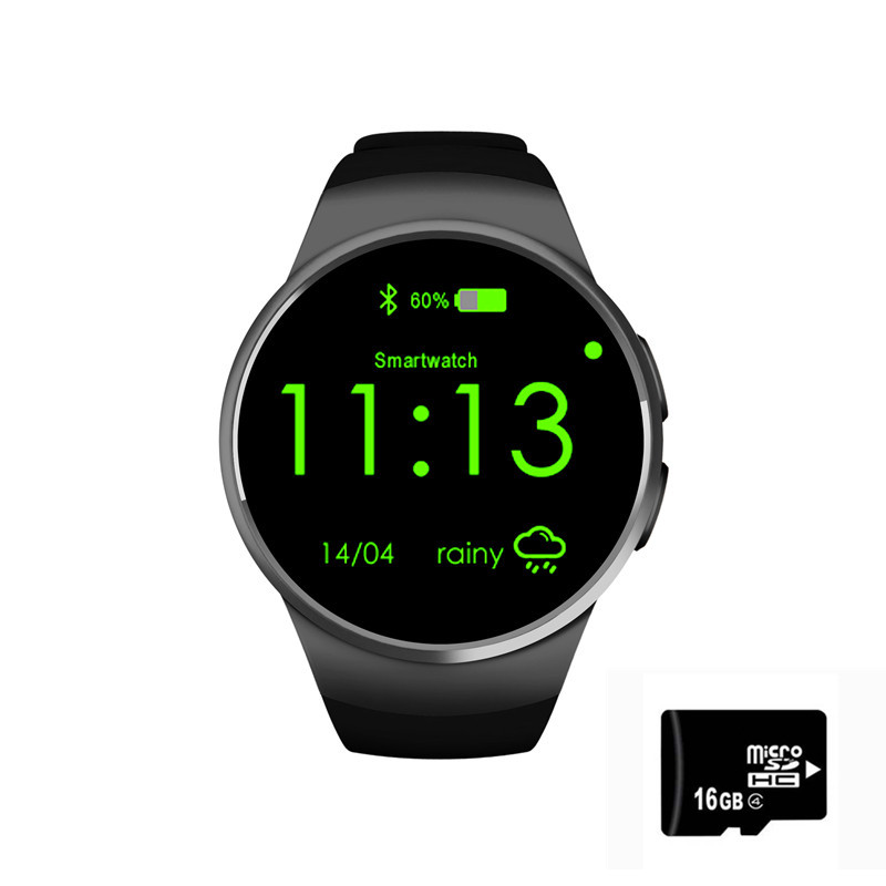 SIM mtk2520 kw18 smart watches smart watch 1 3 inch Smartwatch sliver gold black with heart