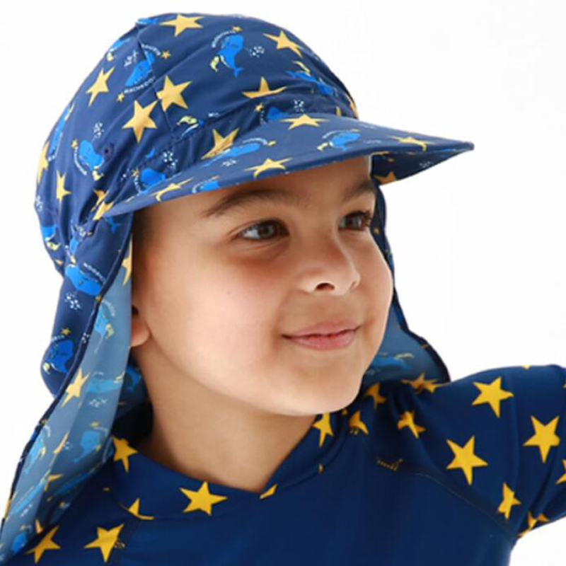 75aadb83beca26 USEEMALL Kids Children Outdoor Beach Sun Hat Neck Ear Cover UPF 50+ UV  Protection Ear Protection Swimming Cap 1 8Y High Quality-in Swimming Caps  from Sports ...