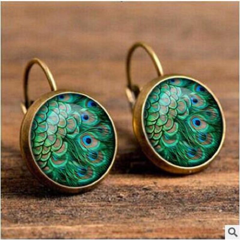 Exknl Boho Flower Drop Earrings For Women Vintage Jewelry Geometric Pattern Round Earings Bijoux boucles d'oreilles bohemia 16