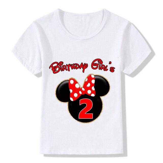 Wish Kids Happy Birthday Age Digital Print Kawaii Mic Festival Design Boy Girl Kid Clothes Round Neck Cotton T Shirt Best Gift