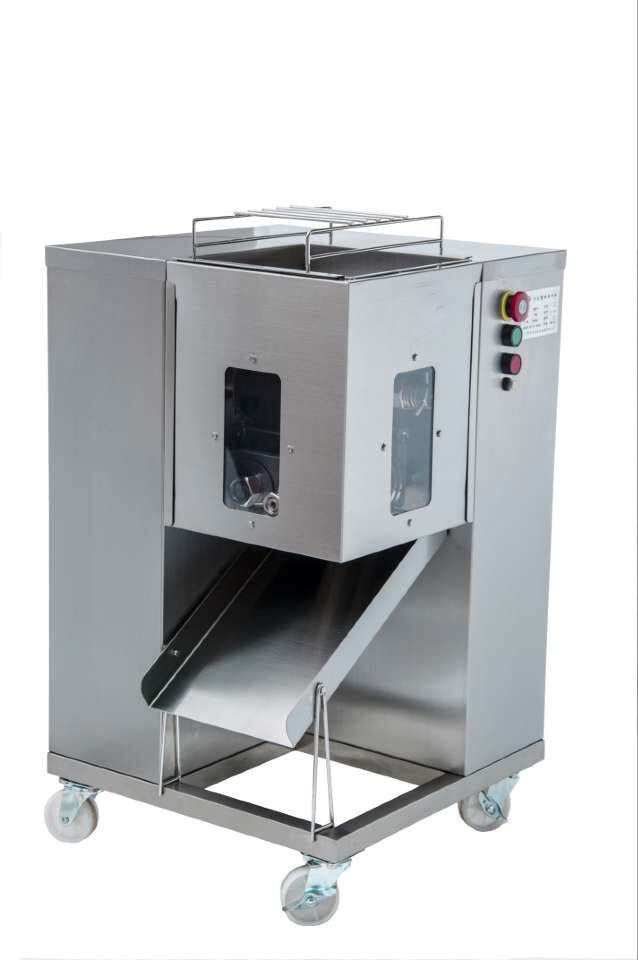 250Kg Hour Stainless Steel Meat Cutting Machine 650W Cutter Slicer Beef