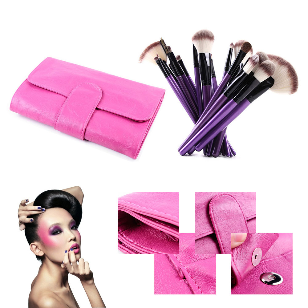24Pcs Professional Superior Soft Cosmetic Makeup Powder Brush Tools Pincel Eyeshadow Eyeliner Lip Set Kit&Case mix colour 24 pcs pack professional soft makeup brushes eyeshadow powder lip cosmetic set case