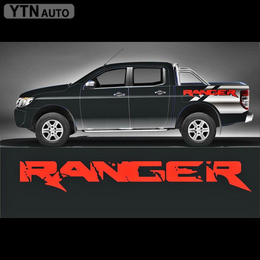 Stiker mobil, 2 pc styling keren melindungi awal dekoratif bagasi belakang, Grafis Vinyl stiker kustom untuk FORD RANGER