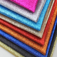 50x130cm Thin Glitter Leather Fabric For Decoration Diy Bow Wallpaper Handbag Shoes Black Pink Gold Shiny