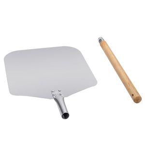 Image 3 - Aluminum Pizza Shovel Peel With Long Wooden Handle Pastry Tools Accessories Pizza Paddle Spatula Cake Baking Cutter