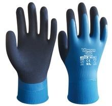 5 pairs  Oil Resistance Latex Dipped Labor Gardening Gloves Waterproof Safety Gloves Water Proof Work glove цена в Москве и Питере