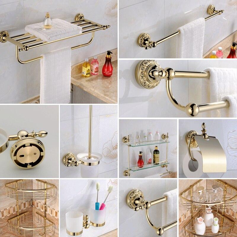 AUSWIND Vintage bad produkte Blume Carving runde Basis Gold bad ...