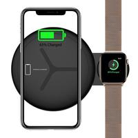 Wireless Charger 2 In 1 Wireless Charging Pad Stand for iWatch 4 3 2 Iphone Xs Max Xr 8 8 Plus Apple Watch Station Dock