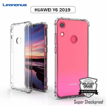 Leanonus Military Grade Shockproof Phone Case for HUAWEI Y6 2019 Air Cushion Back Cover Soft Silicone Capa