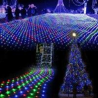 3 M * 2 M impermeable LED neto de malla de hadas cadena de luces de barra de hielo para interior al aire libre del centelleo hogar jardín Navidad boda del partido