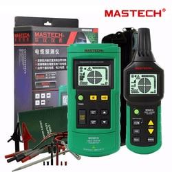 Mastech ms6818 portátil profissional fio cabo rastreador de tubo de metal localizador detector tester linha rastreador voltage12 vol400 v