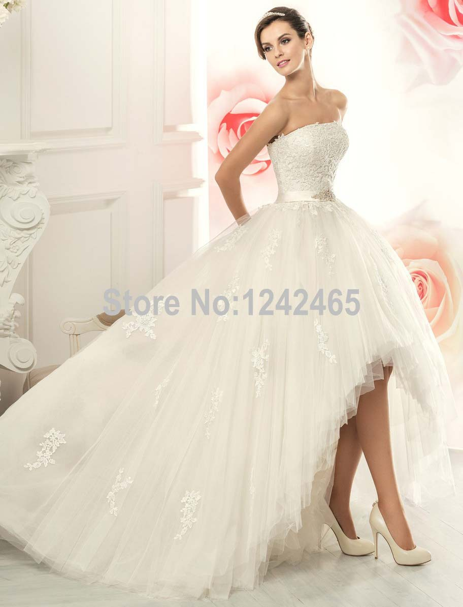 High Low Ball Gown Wedding Dresses Vestido De Noiva 2015 ...