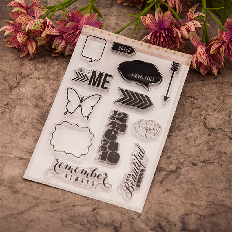 Scrapbook DIY photo cards always remember silicone stamps transparent stamp for christmas gift paper craft RM-239 letter phrase design scrapbook diy photo album paper cards silicone clear stamp transparent stamp for christmas gift tm 006