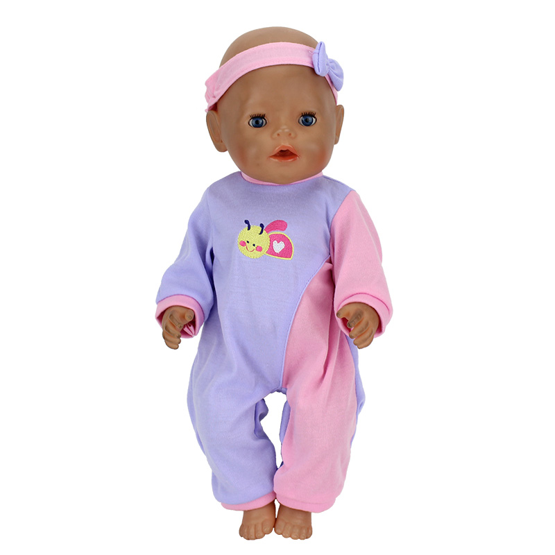 Doll Hat+Jump Suits Fit For 43cm Baby Doll Doll Reborn Baby Clothes