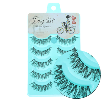 5 Pairs/set Soft Natural False Eyelashes Handmade Long Cross Charming Eye Lashes Extension Beauty Makeup Tools False Eyelashes