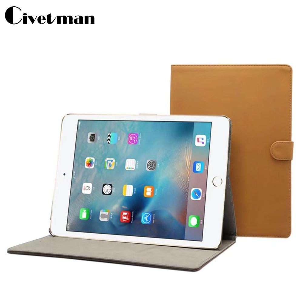 Civetman Retro Matte Case For New iPad 9.7 inch 2017 Smart Wake-up Sleep Stand Ultra-thin Folding PU Leather Flip Cover folding leather stand case for new ipad 2nd 3rd 4th gen brown