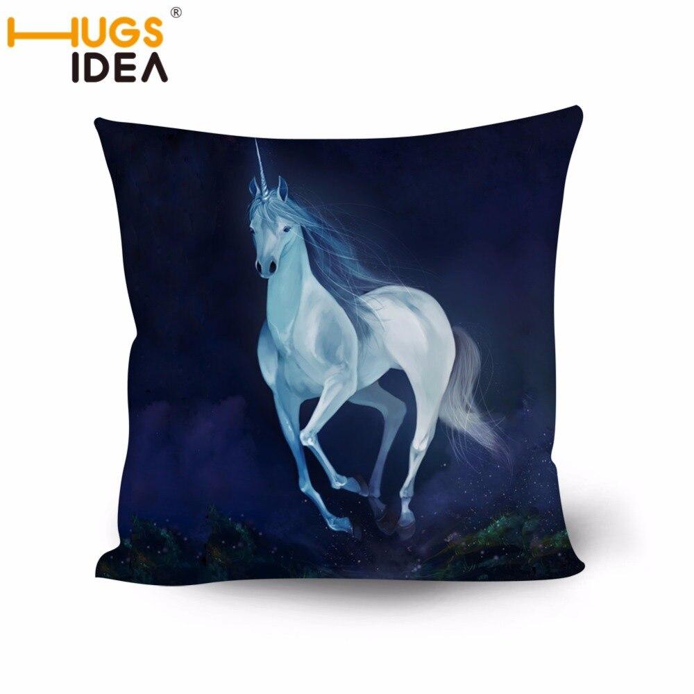 HUGSIDEA Unicorn Designer High Quality Fashion Chair Cushion Decor Sofa  Throw Pillow Printed Polyester Square Pillow Bolster-in Cushion from Home &  Garden ...