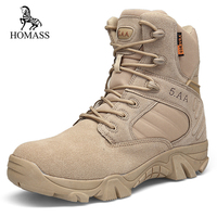 HOMASS Winter Autumn Men Military Boots Quality Special Force Tactical Desert Combat Ankle Boats Army Work Shoes Safety Boots