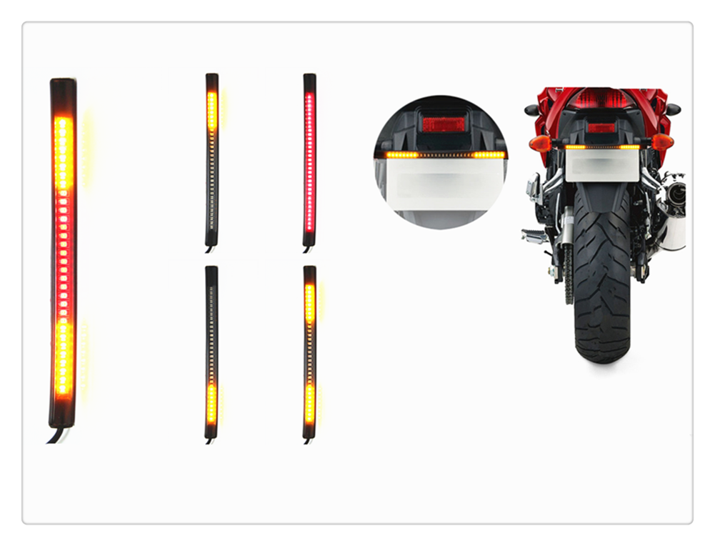 Motorcycle <font><b>accessories</b></font> universal LED brake light steering lighting for <font><b>YAMAHA</b></font> YZF 600R Thundercat R1 R6 R25 R3 FZ1 FAZER <font><b>FZS</b></font> image
