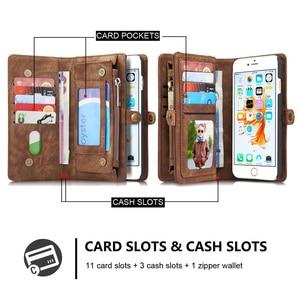 Image 2 - Custodia in pelle Vintage per iPhone 12 11 Pro Max X XR 6 6s 8 7 Plus custodia a portafoglio magnetica per iPhone SE 2020 XS Max Flip Case