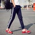 Nueva Marca de Moda 2016 Pantalones de Algodón Puro de Alta Calidad pantalones de Chándal Para Hombre Joggers Sweat Pants Pantalones Ocasionales de Los Hombres M-5XL