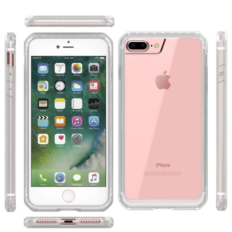 Dir-Maos For iPhone 8 Plus Case 7 Plus 6 6s Plus Beatle Shock Proof Anti Scratch Color Bumper Clear Panel Slim Cover Simple LifeDir-Maos For iPhone 8 Plus Case 7 Plus 6 6s Plus Beatle Shock Proof Anti Scratch Color Bumper Clear Panel Slim Cover Simple Life