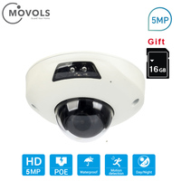 Movols PoE IP Camera 5MP SD card slot Dome Security Outdoor Surveillance Camera CCTV Nightvision Video Surveillance 160 degree
