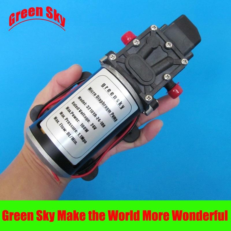160PSI 8L/Min 24 V DC 100 W micro diaphragme pompage auto-amorçante