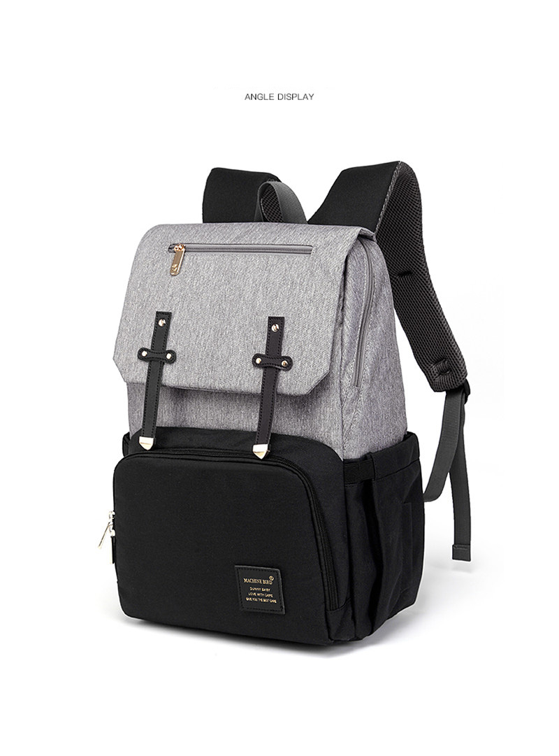 HTB18ZJUaJfvK1RjSszhq6AcGFXaP New Fashion Women Backpack With USB Mummy Daddy Outdoor Travel Diaper Bags Pure Large Waterproof Nursing Bag Baby Care Nappy Bag