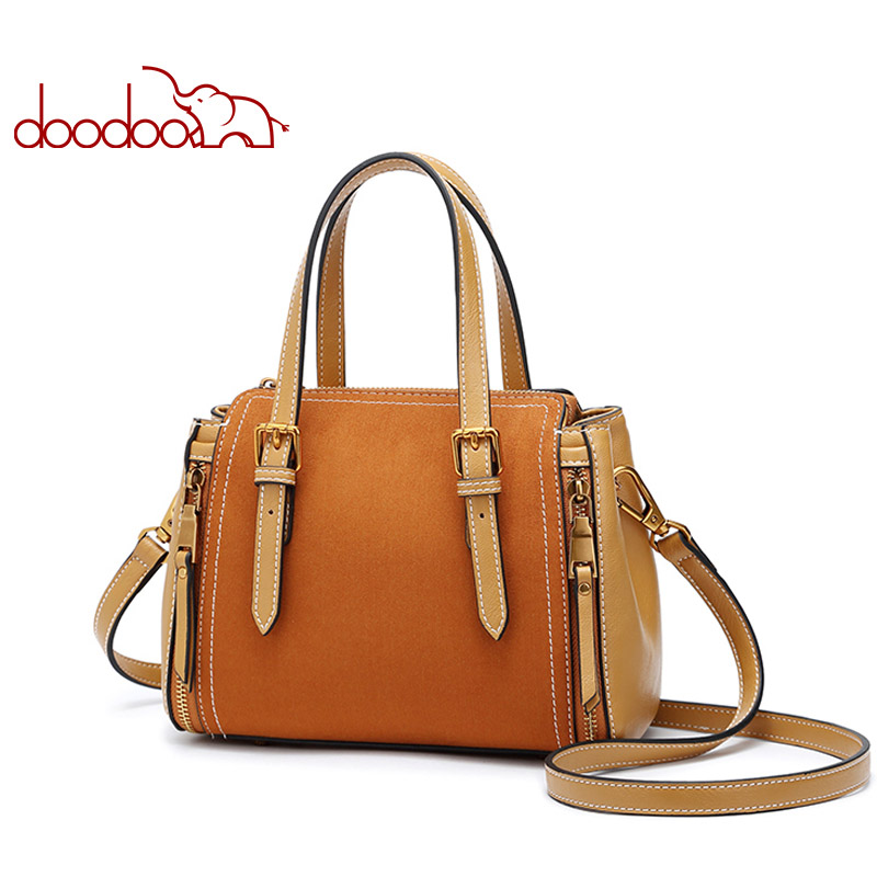 DOODOO Women Pu Leather Handbag Female Shoulder Crossbody Bags Ladies Top-handle Luxury Handbags Women Bags Designer Tote Bag 2017 luxury winmax women handbag scrub pu leather shoulder bags female fashion beading top handle tote bags ladies messenger bag