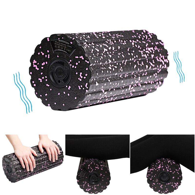 Yoga Foam Roller Pilates Block Fitness Adjustable Massager Relax Muscle Yoga Column Electric Vibration Massage roller