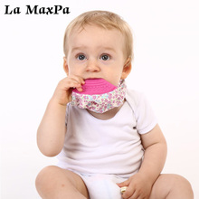 1PC Triangle Reusable Edible grade silicone Baby Bibs Washable Burp Cloth Children Baberos Babador Bandana
