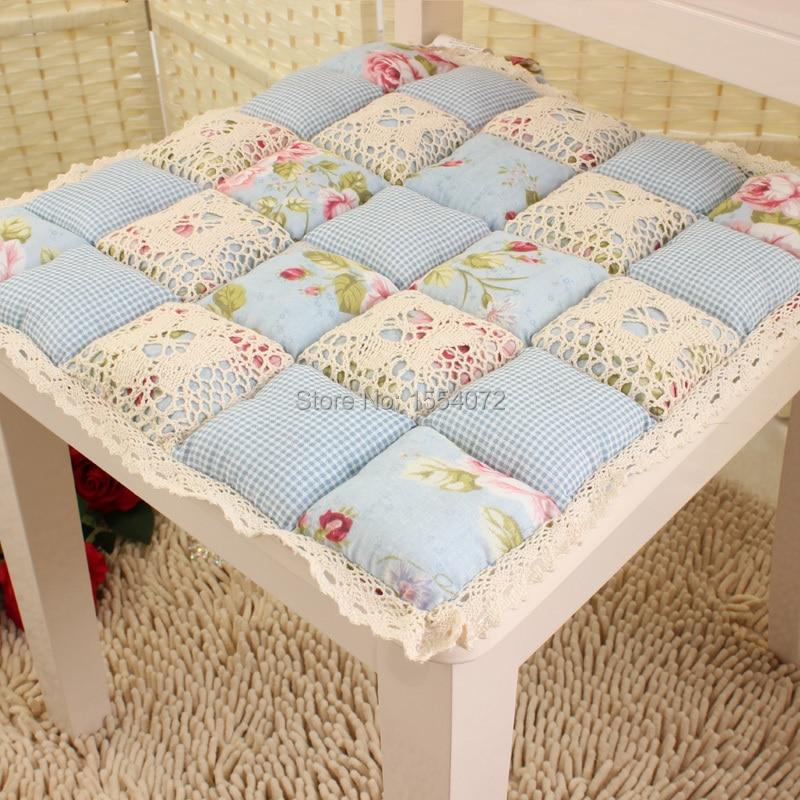 Cojines para sillas de comedor pastoral estilo clido y romntico cojines decorativos para el - Cojines redondos para sillas ...