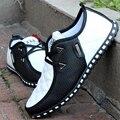 Весна осень новых мужчин вождения обувь Мода дышащая кожа повседневная обувь Корейской версии кружева мужская обувь резиновая Z180