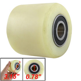все цены на Uxcell Hot Sale 1Pcs 80mm Diameter 70mm Length Nylon Wheel Beige for Pallet Truck for Trolleys,Furniture,Rack, etc.