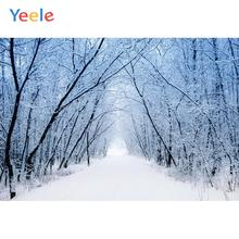 Yeele Winter Snow Frozen Scenery Princess Wedding Personalized Photographic Backdrops Photography Backgrounds For Photo Studio kate winter backdrops photography ice snow tree scenery photo shoot white forest world backdrops for photo studio
